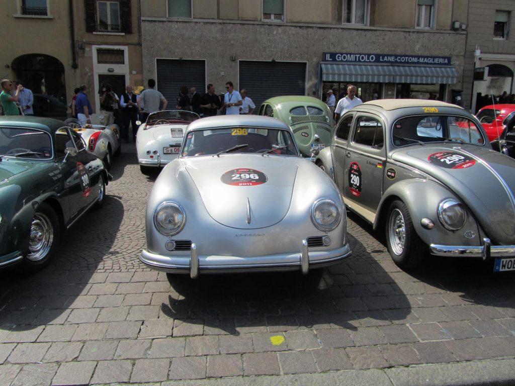 Oldtimer Porsche 356 bei der Mille Miglia