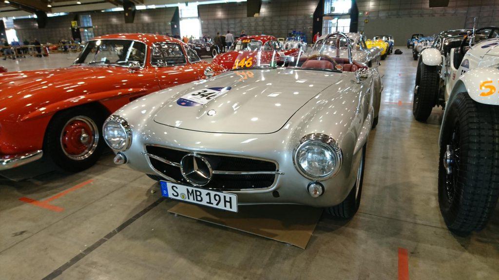 Oldtimer Mercedes Cabrio bei der Mille Miglia